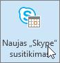 """""""Outlook"""", naujo """"Skype"""" susitikimo mygtukas"""