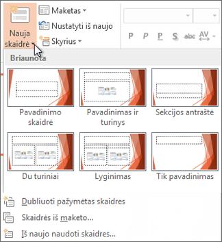 """Nauji """"PowerPoint"""" skaidrių maketai"""