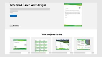 Verslo dokumentų šablonai svetainėje templates.office.com