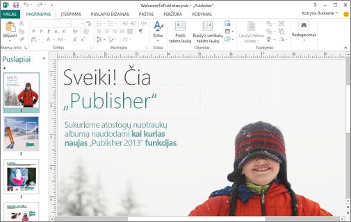 "Atraskite ""Microsoft Publisher"""