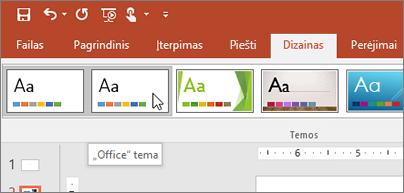 """Ekrano nuotrauka """"Office"""" temos skirtuke dizainas"""