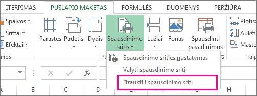 Įtraukti į spausdinimo sritį