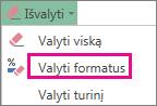 Valyti formatus