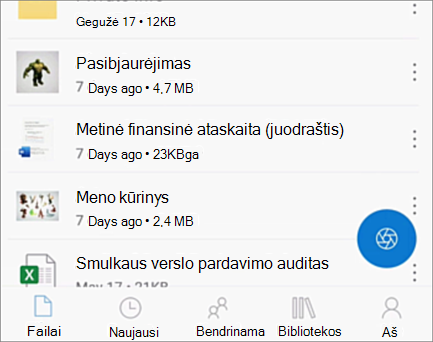 """OneDrive"", skirta ""iOS"":"