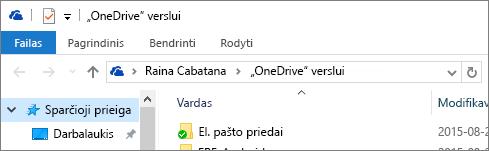 """OneDrive"" verslui senasis kompiuterio klientas"