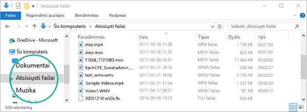 Konvertuotas failas nukopijuojamas į kompiuterio Atsisiuntimų aplanką