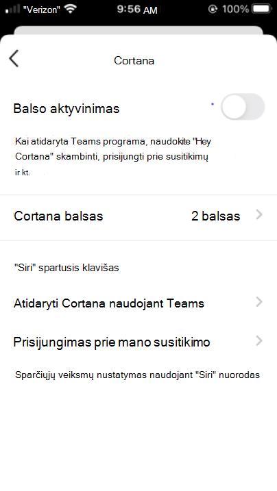 """Mygtukas """"Cortana"""" mobiliesiems įgalinti """"Cortana"""""""