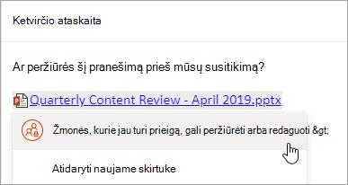 "Saito su ""OneDrive"" failu ekrano kopija"