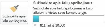 """""""SharePoint Workspace"""" dokumentų matuoklis, naudojant mažiau kaip 7 500 dokumentų"""