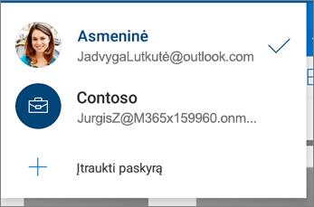 """Perjungti abonementus į """"OneDrive"""" programėlė, skirta """"Android"""""""