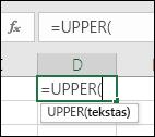 Funkcijos nuorodos įrankių juostos ekrano kopija