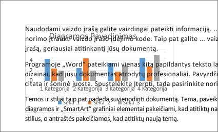 Už teksto bloko esančios diagramos pavyzdys