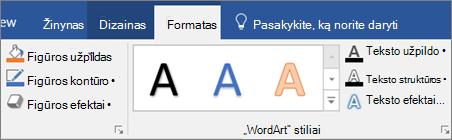 Spustelėkite skirtuką formatavimas.