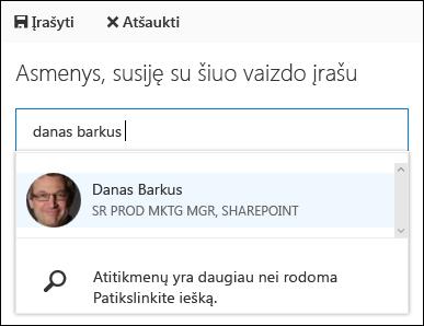 """""""Office 365"""" vaizdo įrašų susieti žmonės"""