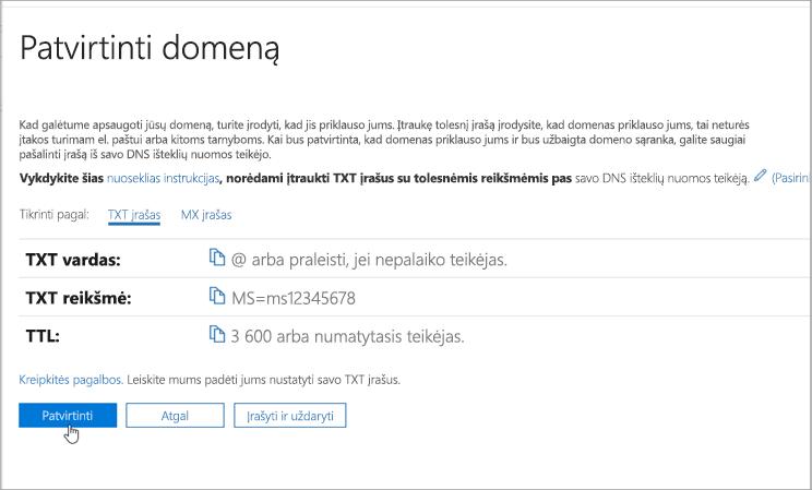 OVH patikrinkite domeną naudodami Office 365_C3_201769202357