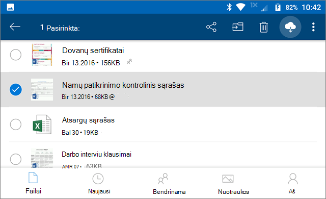 """""""OneDrive"""" palikti internete"""