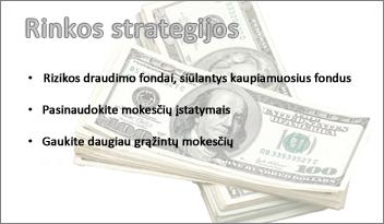 """skaidraus vaizdo į """"PowerPoint"""" skaidrę"""