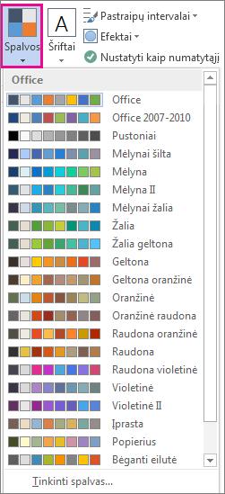 Temos spalvų galerija