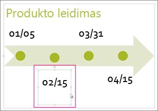 Laiko planavimo juostos datos pasirinkimas