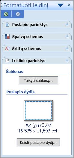 Leidinio formatavimas