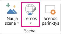 Trimačių žemėlapių temų parinktis