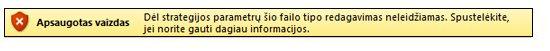 Apsaugotas rodinys dėl failų blokavimo, vartotojas negali redaguoti failo