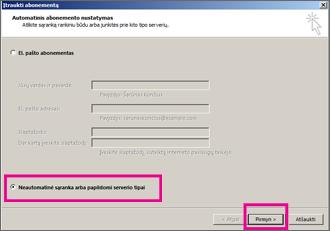 """Rankinės sąrankos naudojimas """"Outlook 2013"""""""