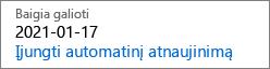 """Tai, kas yra išjungta """"baigiasi"""" atrodo, kai automatiškai atnaujinamą prenumeratą."""