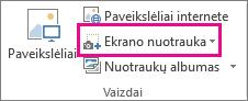 Mažas mygtukas ekrano nuotrauka