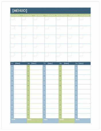 """Mėnesio ir savaitės planavimo kalendorius (""""Word"""")"""