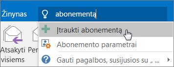 """Greitas pasirengimas darbui: """"Outlook"""" paskyros įtraukimas"""