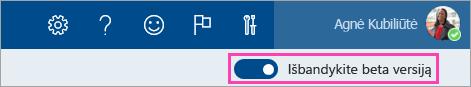 Peržiūrėti kitą jungiklį įjungti ekrano
