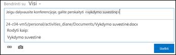 Naujienų teikimo skelbimo dokumento URL, formatuotas naudojant rodymo tekstą