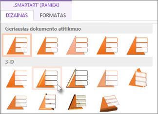 """Taikyti """"SmartArt"""" stilių"""