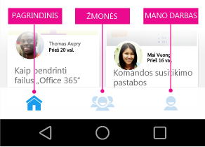 """Delve"", skirtos ""Android"", pagrindinis meniu"