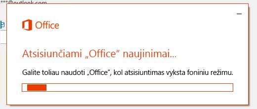 """Dialogo langas """"Office"""" naujinimai"""