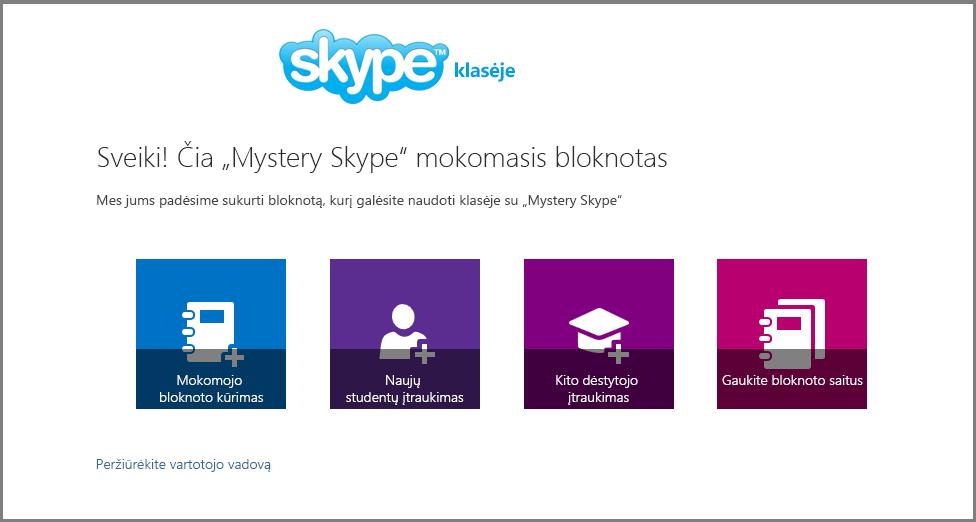 "Sveiki! Čia ""Mystery Skype"""