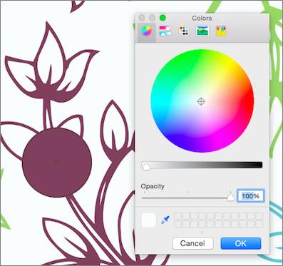 Pipetės spalvos peržiūra