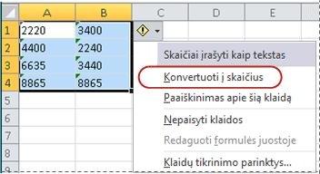 Konvertavimo į skaičių komanda