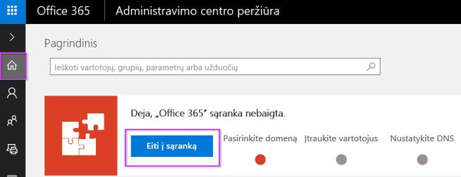 """Office 365"" administravimo centro sąranka"