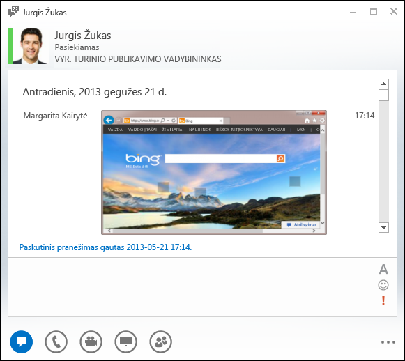 Įdėtųjų vaizdų ekrano kopija