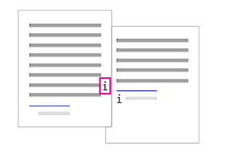 Dokumento išnašos naikinimas iš dokumento teksto