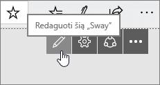 """Redaguoti šį """"Sway"""" mygtuką"""