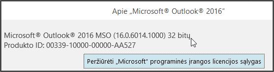 Langelio viršuje nurodyta 32 arba 64 bitų.