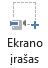 """Ekrano įrašymo mygtukas """"PowerPoint 2016"""" skirtuke Įrašymas"""