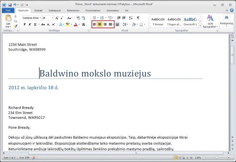 """Word 2010"" dokumentas"