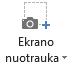 """Skirtuke įrašymas programoje """"PowerPoint 2016"""" ekrano mygtukas"""