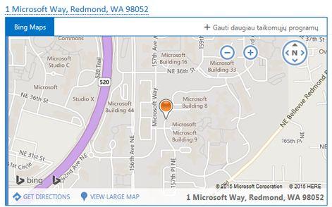 """""""Bing"""" žemėlapis"""