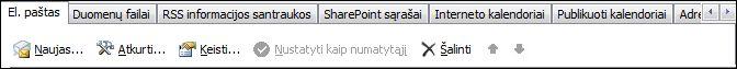 """""""Outlook 2010"""": įtraukti naują abonementą"""