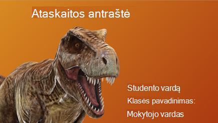 Koncepcinis 3D mokyklos ataskaitos vaizdas